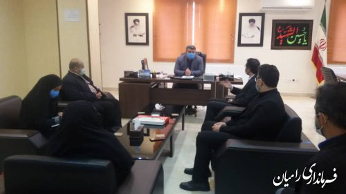ملاقات های عمومی مهندس جواد صادقلو در فرمانداری شهرستان رامیان