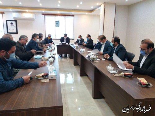 دیدار رئیس سازمان نوسازی و تجهیز مدارس کشور با فرماندار شهرستان رامیان