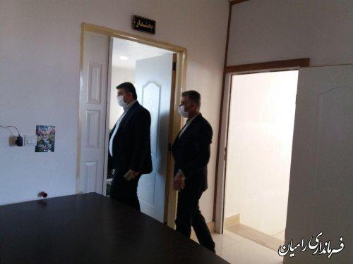 بازدید فرماندار رامیان از بخشداری فندرسک