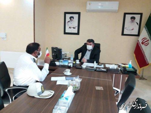 نشست فرماندار رامیان با رئیس پلیس راه شهرستان