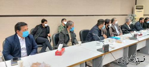 جلسه دکتر دهنوی ، مهندس صادقلو و مهندس کوهساری  با گروه های جهادی