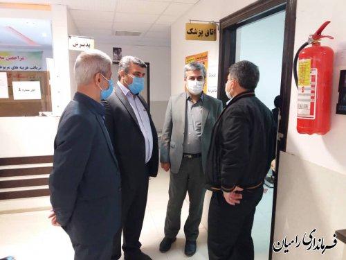 بازدید دکتر فاضل رییس دانشگاه علوم پزشکی گلستان از مراکز درمانی شهرستان رامیان
