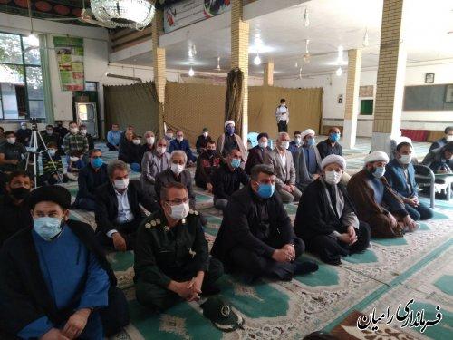 مراسم تکریم و معارفه ائمه جمعه قدیم و جدید شهر رامیان