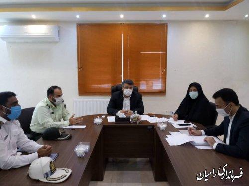 برگزاری پنجمین جلسه شورای ترافیک شهرستان رامیان