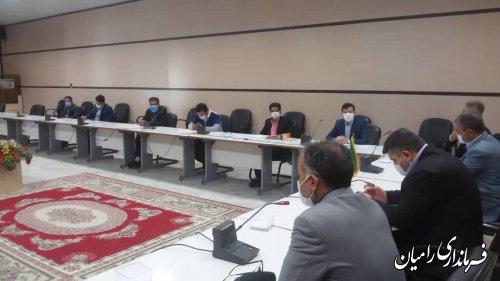 یرگزاری جلسه کارگروه تجارت الکترونیک، ارتباطات و فناوری اطلاعات شهرستان رامیان