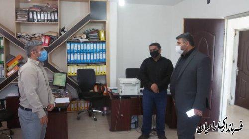 بازدید سرزده مهندس صادقلو از بخشداری مرکزی رامیان