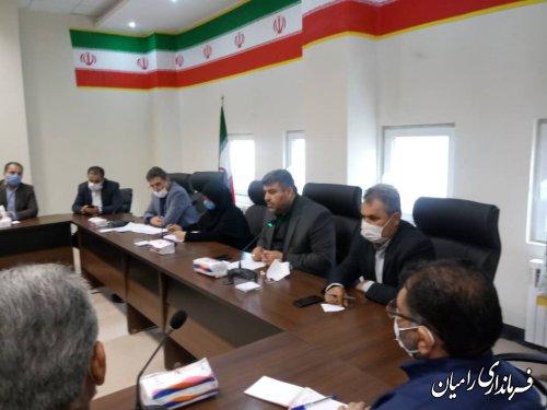 بازدید معاون توسعه مدیریت و منابع استانداری گلستان از فرمانداری شهرستان رامیان