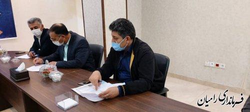 جلسه ستاد پیشگیری و مقابله با ویروس کرونا به ریاست فرماندار شهرستان