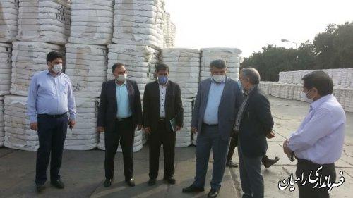 بازدید فرماندار رامیان از واحدهای تولیدی شهرستان