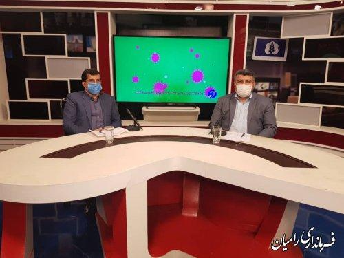 حضور فرماندار در برنامه گفتگوی ویژه خبری شبکه استانی گلستان