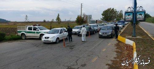 اجرا و نظارت بر طرح ورود خودروها و پلاکهای غیر بومی به شهر رامیان