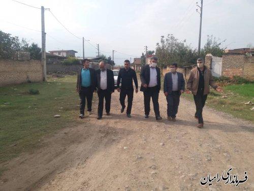 بازدید از روستاهای بخش فندرسک شهرستان رامیان