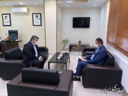 دیدار مدیرکل امور سیاسی و انتخابات استانداری با فرماندار رامیان