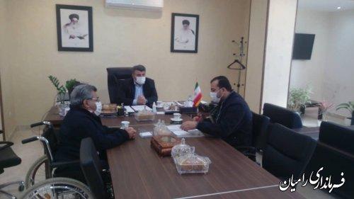 دیدار فرماندار رامیان با مدیرعامل خیرین مسکن ساز استان گلستان