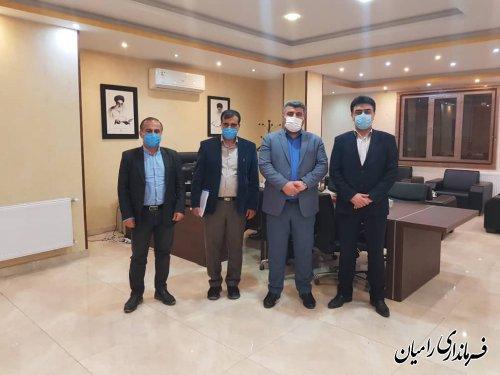 دیدار فرماندار رامیان با مهندس هرمزی مدیرعامل آب و فاضلاب استان