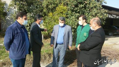 بازدید فرماندار از روستاهای سعدآباد، لاله باغ و ارازگل