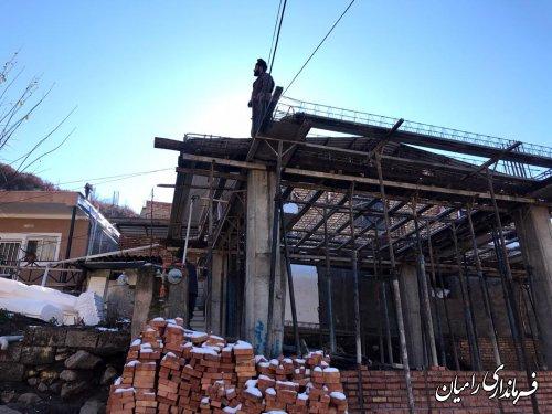 بازدید فرماندار رامیان از روند بازسازی روستاهای زلزله زده