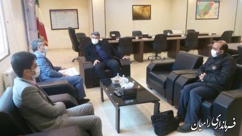 دیدار فرماندار رامیان با مدیر صندوق بیمه اجتماعی کشاورزان، روستاییان و عشایر استان