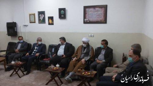 جلسه پیگیری مسائل و مشکلات حقوقی و اجرایی حوزه منابع طبیعی شهرستان رامیان