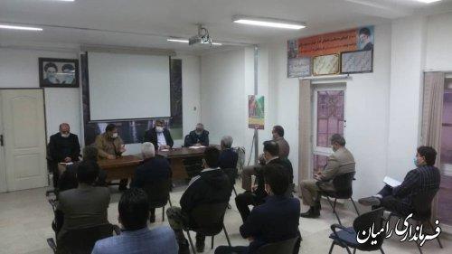 جلسه اعضای سمن بخش فندرسک با نماینده و فرماندار شهرستان