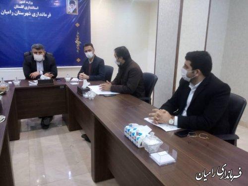 برگزاری جلسه شورای ترافیک شهرستان رامیان