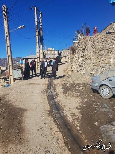 بازدید فرماندار رامیان از روستای کشکک