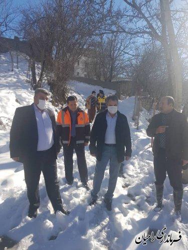 حضور فرماندار رامیان در روستای ملچ آرام