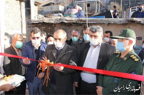 افتتاح مسکن مددجویان زلزله زده در روستای قورچاي