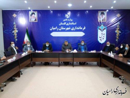 آیین معارفه معاون فرماندار شهرستان رامیان