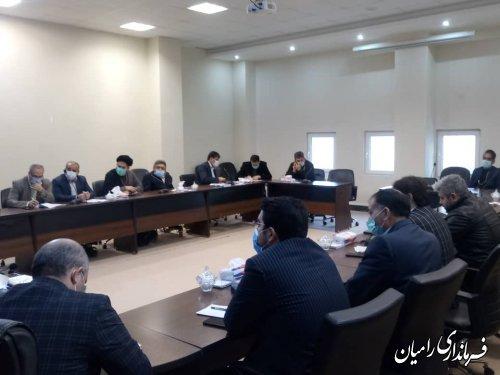 برگزاری جلسه شورای هماهنگی مبارزه با مواد مخدر شهرستان رامیان