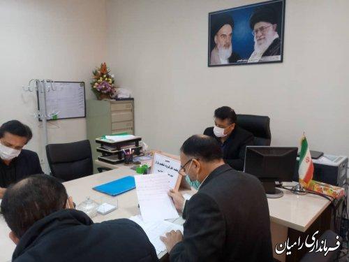 هفتمین جلسه کار گروه تنظیم بازار شهرستان رامیان برگزار شد