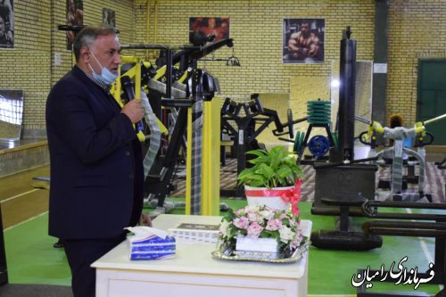 افتتاح باشگاه بدنسازی و پرورش اندام در شهر خان ببین