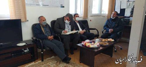 بازدید فرماندار شهرستان و مسئولین هلال احمر از پایگاه امداد نجات بین شهری محور اولنگ – شش آب