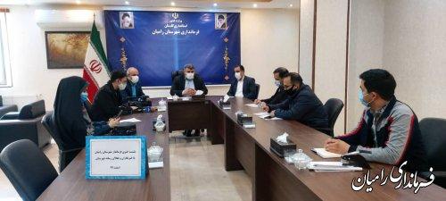 نشست خبری فرماندار رامیان با خبرنگاران و فعالان رسانه شهرستان