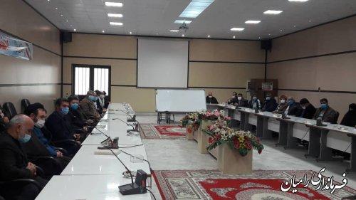 تشکیل جلسه انتخاب معتمدین هیات اجرایی بخش مرکزی شهرستان رامیان
