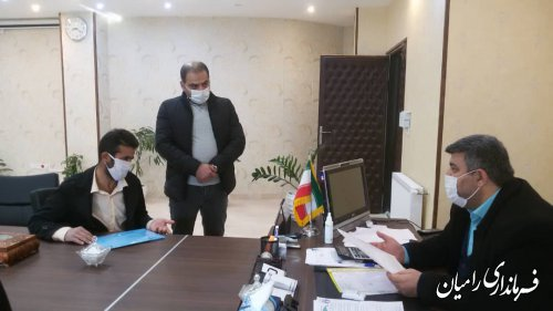 ملاقات عمومی فرماندار رامیان با مردم شریف شهرستان برگزار گردید.