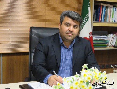 پیام تبریک فرماندار شهرستان رامیان به مناسبت اعیاد شعبانیه