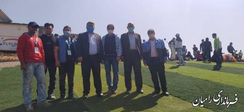 بازدید فرماندار شهرستان از سایت های پروازی پاراگلایدر در مسیر روستای الهادی