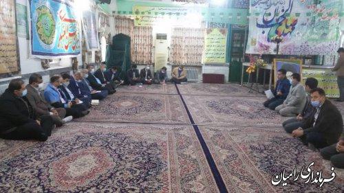 ده گردشی فرماندار شهرستان رامیان باتفاق جمعی از مسئولین از روستاهای دارکلاته ، نقی آباد و شفیع آباد بخش فندرسک