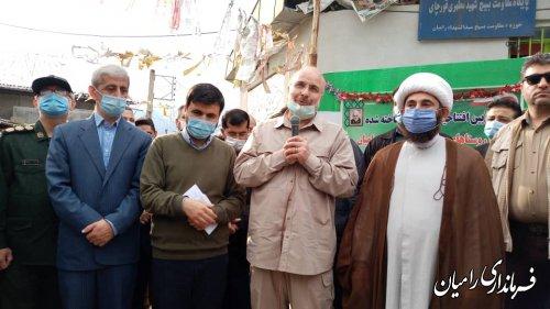 حضور رئیس مجلس شورای اسلامی در روستاهای زلزله زده شهرستان رامیان