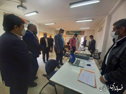 بازدید فرماندار شهرستان رامیان از روند ثبت نام کاندیداهای انتخابات ششمین دوره شوراهای اسلامی روستایی و عشایر بخش مرکزی و فندرسک همزمان با آغازین روز از ثبت نام .
