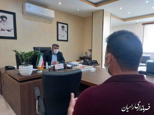 اولین ملاقات مردمی فرماندار شهرستان رامیان با شهروندان در سال ۱۴۰۰