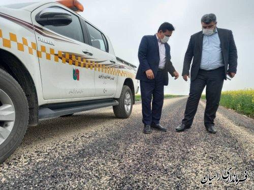 بازدید فرماندار رامیان از روند پیشرفت پروژه بهسازی راه های روستایی شهرستان