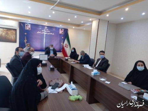 برگزاری دومین جلسه کارگروه صنعت نوغانداری و هنر ابریشم بافی در شهرستان رامیان