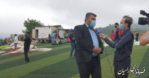 بازدید فرماندار از سایت پروازی پاراگلایدر رامیان