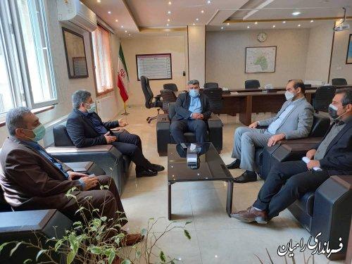 نشست اعضاء هیات بازرسی انتخابات شهرستان با فرماندار رامیان