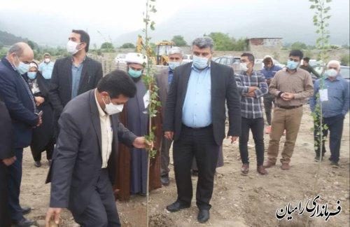 افتتاح بوستان معلم شهر رامیان
