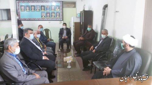 دیدار مسئولین شهرستان رامیان با پرسنل آموزش و پرورش به مناسبت روز معلم