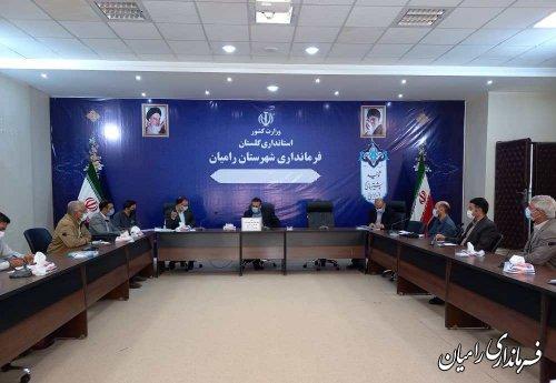 کارگروه تنظیم بازار شهرستان رامیان تشکیل جلسه داد.