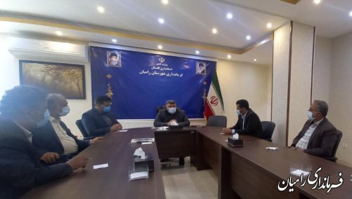 دیدار اعضای شورای اسلامی روستای گلند با فرماندار رامیان
